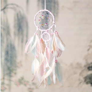 Colorful Handmade Dream Catcher Feathers Car Home Wall Hanging Decoration Ornament Gift Wind Chime Craft Decor Supplies HHE2863