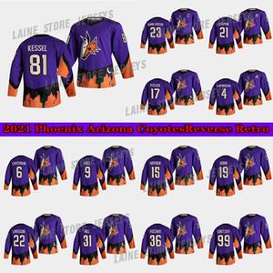Phoenix Arizona Coyotes Jersey 2021 Retro Retro 81 Phil Kessel 23 Oliver Ekman-Larsson 4 Niklas Hjalmarsson Hockey Jerseys