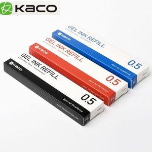 10 unids azul / negro / rojo / colorido tinta para la pluma Kaco 0.5mm Firma de la pluma para la oficina de la escuela Escritura suave Refill1 de firma