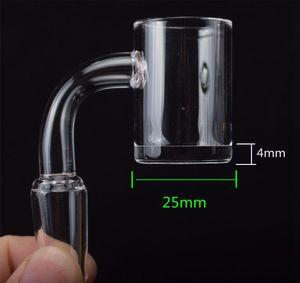 25mm XXL Enail Banger 4mm thick bottom banger 10mm 14mm 18mm male female quart banger nail for coil dab oil rigs