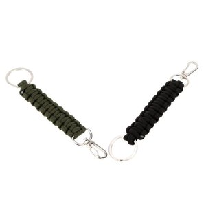 wholesale-hot woven paracord lanyard keychain survival tools 7 strand parachute cord lanyard keychain carabiner hook travel kits