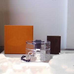 뜨거운 유리 상자 럭셔리 디자이너 스토리지 상자 숙 녀 메신저 가방 패션 단일 어깨 여성 메신저 가방 플립 디자인 GI0203