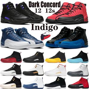 12 12s Erkekler Basketbol Ayakkabıları Jumpman Siyah Koyu Concord Üniversitesi Altın Ters Grip oyunu Beyaz Koyu Gri Indigo CNY Spor Erkek Sneakers