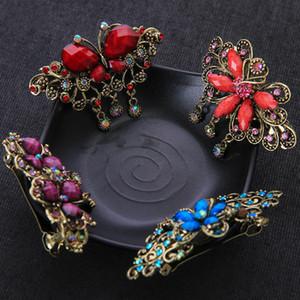 سيدة كريستال حجر الراين الربيع مقاطع مجوهرات النساء زهرة فينيكس فراشة نمط الأزياء ذيل الحصان كليب اكسسوارات للشعر 2 7YB J2