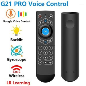 G21 PRO 2.4G Smart Voice Remote Control Backlit Gyro IR Learning Wireless Air Mouse for X96 Mini H96 MAX Android TV Box vs G201