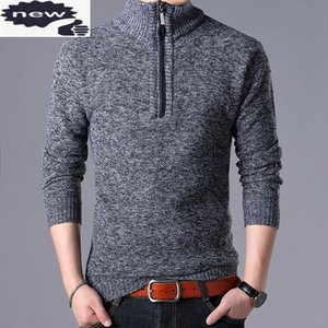 Autumn New Mens Zipper Turtleneck Sweater Long Sleeve Slim Fit Casual Knit Top Man Pullover Knitwear Pull Homme Sweaters 3XL