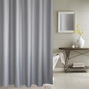 Duş perdesi kalın jakarlı perdeleri yüksek dereceli banyo gümüş gri petek dokulu polyester kumaş 201128