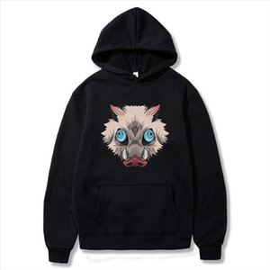Anime Inosuke Breath Of The Beast Sweatshirt Men Women Harajuku Hip Hop Funny Tracksuit Demon Slayer Pullover Hoodies Moletom