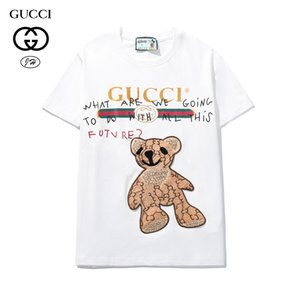 Ummer Paris para hombre ropa de lujo taladro caliente camiseta diagonal letra impresión t shirt moda r tshirts casu455