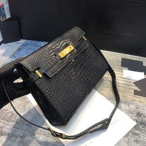 Hot selling women's baguette bag genuine Leather with alligator solid messenger bag Brand Single Shoulder crossbody Bag