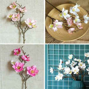 Artificial Magnolia Flowers Simulation Flower For Wedding Party Garden Home Table Office Decoration#1