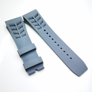 25mm   20mm Grey Watch Band Clasp Rubber Strap For RM011 RM 50-03 RM50-01