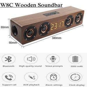 Bluetooth Speaker 4 Speakers TV Speaker Soundbar Woofer column Subwoofer with LED clock display FM radio acoustic system