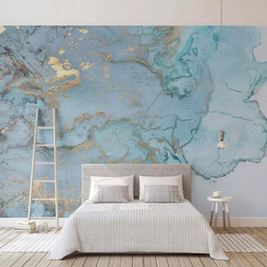 Custom Photo Wallpapers 3D Stereo Blue Texture Marble Wall Paper Murals Living Room TV Sofa Bedroom Study Decor Papel De Parede