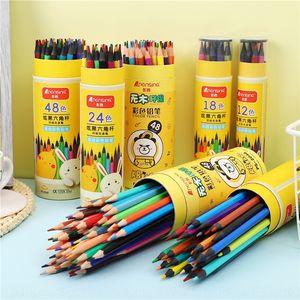 Mkgmu estudante cor lead 12 18 24 desenho colorido 36 48 lápis de cor pintura de arte para colorir prêmio de estudante