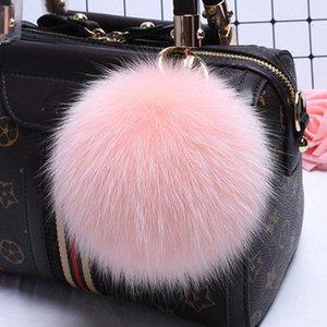 Big Size 15cm Fluffy Real Fox Fur Ball Pom Poms Girls Natural Fox Fur Pompom Keychain Fashion Women Bag Key Chains Ring sqcIFn jeneffer