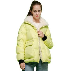 womens winter coats women down jacket women winter coat short lamb wool stand-up collar letter print down jacket Women Winter Coats