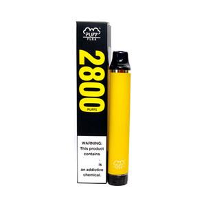 Puff Bar Flex 13Colors 100% Оригинальный одноразовый Vape 8ML Vape Pen Battery 2800Puff Plus 5% картриджей E Cigarettes BestVaporseller