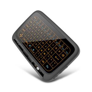 H18 Mini Drahtlose Tastatur Vollbild-Touchpad 2,4 GHz mit / ohne Hintergrundbeleuchtung English Keyborad für PC / Android-TV-Box / PS3 / R20