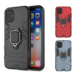 iPhone 12 11 Pro Max XR XS Mas Panther Back Cover의 자기 수비수 전화 케이스 금속 링