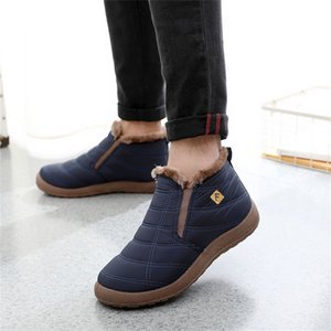 men snow boots ankle winter warm hot plush injection shoes high tops women student man male plus size 36-46 slip on footwear 201128