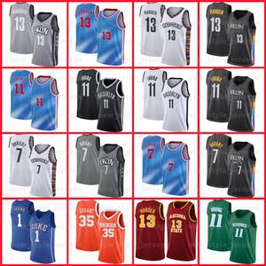 7 Kevin 11 Kyrie durant Irving 13 Harden 2021 Männer City Swingman BrooklynNETS.Neue Icon Edition Basketball-Trikots