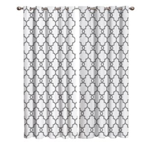 Moroccan White And Black Pattern Room Curtains Window Curtain Lights Bathroom Bedroom Outdoor Fabric Print Kids Curtain Panels