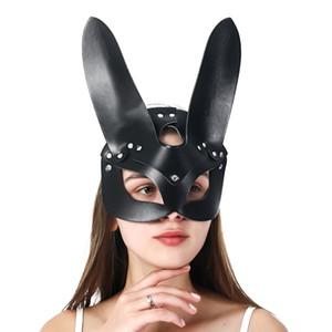 Uyee Sex Frauen Sexy Mask Catwoman Halbmaske Erotik Party Cosplay Slave Requisiten Maske Erwachsene Spielmasken 200929