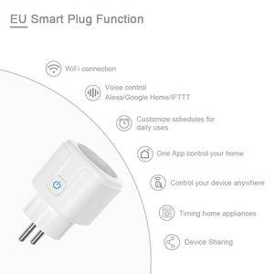 Штекер EU Smart Plug Wi-Fi Smart Power Goot Wireless Control Совместимо Alexa Amazon Google Home Умные домашние гаджеты