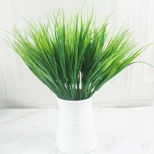 4pcs Plastic Flower Arrangement Materiali Piante Verdi Erba Artificiale Decorazioni Acquario Acquario Ufficio Giardinaggio Decorazioni di giardinaggio1