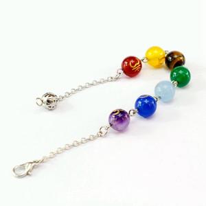 Natural Crystal Stone Fashion Bracelet Religious Yoga Seven Chakra Sanskrit Fine Jewelry Reiki Healing Energy Stone Bracelets Exquisite Gift