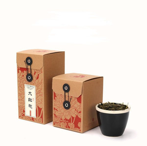 Retro Kraft Paper Tea Packaging Boxes Empty Folding Gift Boxes for Herbal Flower Tea Wholesale SN3674