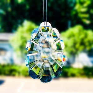 Suncatchers Chakra Crystal Prism падение висит стекло кулон орнамент Fengshui сад светло-ловцы елки висит декор H JLLBNR