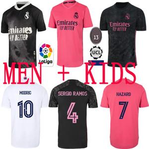 탑 레알 마드리드 유니폼 2020 21 축구 축구 셔츠 위험 Sergio Ramos 벤즈마 Asensio Camiseta Men + Kids Kit 20/21 4 번째 휴머니