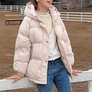 Pinkyisblack 2020 mujeres con capucha de invierno abrigo de chaqueta de invierno más tamaño 2xl corto grueso tibio algodón acolchado acolchado abrigo de invierno ropa mujer