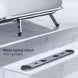 Tablette d'ordinateur portable Tablette métallique Mini Porte-portable pliable mince Poids léger à deux angles réglable de design ergonomique réglable