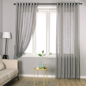 Free Shipping Sheer Window Curtains For Living Room Left And Right Bi Parting Open 11 Colors Polyester Curtain Blackout Curtains