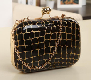 High Quality Stone Crack Evening Bag Fashion Shoulder Crossbody Cosmetic Bags Trendy Female Totes Chain handbag Bridesmaid Bag