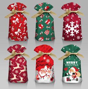 The latest 15*23CM size, Christmas gift wrapping bag, ribbon drawstring bag, safe fruit bag, gift drawstring pocket