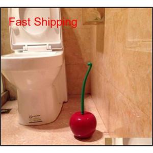 Creative Lovely Cherry Shape Lavatory Brush Toilet Brush & Holder Set Cleaning Tool Plastic Bathroom Decor Acce qylMOZ new_dhbest