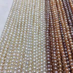 Frauen Perle Halskette Größe 3,5mm Kartoffelform in guter Qualität für DIY Schmuck Accessaries Loose Perlen