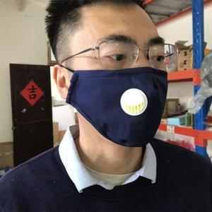 С Free Face Shipping FedEx Mask Моющийся многоразовый PM 2.5 прокладки с вентилятором клапанов 100% хлопчатобумажная ткань хорошее качество WMC20