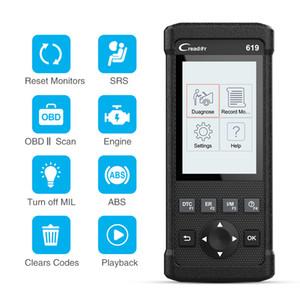 CR619 OBD2 Scanner OBD 2 Code Reader Engine ABS SRS Airbag Car Scanner Lança OBDII Auto Car Ferramenta de diagnóstico