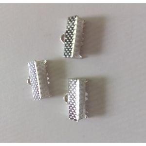 100pcs Metal Crimp Perline Clip Cavo Cavo END CLIPS String Ribbon Clip in pelle Clip giraccia Collana Braccialetto Connettore per gioielli Fare f SQCocx