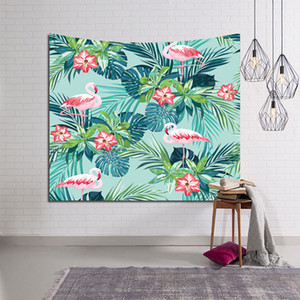 New Flamingo Hanging Cloth Live Room Rental Room Decoration Wall Cloth Dormitory Bedroom Bedside Tapestry DHL Free