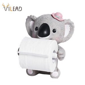 VILEAD Resin Animal Table Paper Towel Holder Koala Cat Figurines Creative Home Shop Kitchen Decoration Crafts Bath Accessories