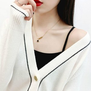 Cashmere New Autumn and Winter Women's Loose V-neck Cardigan Outdoor Short Coat Sweater Bottoming Sweater