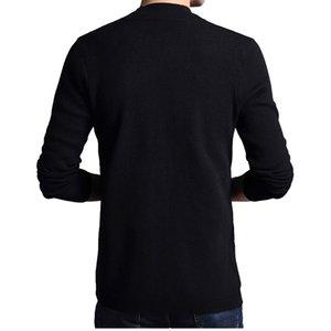 TFETTERS Marke Herbst Strickoberbekleidung Cardigan Herren Einreiher Selbst Anbau schwarze Pullover 201117