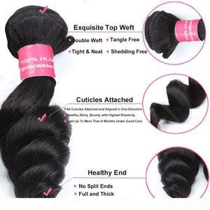 Peruvian Virgin Hair Loose Wave 100% Unprocessed Peruvian Human Hair Extensions Loose Wave Gaga Queen Hair