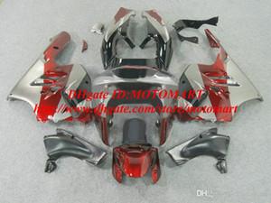 Carénage pour Kawasaki Ninja ZX9R 98 99 ZX-9R ZX 9R 1998 1999 ABS Rouge Silvr Black Fairings Ensemble